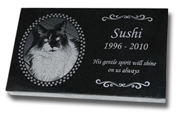 Standard laser engraved pet headstones