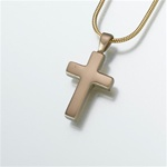 Brass Cross Cremation Pendant