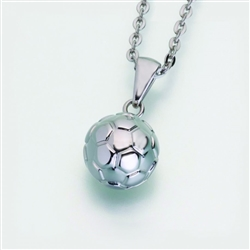 stainless steel Soccer Ball Cremation Jewelry