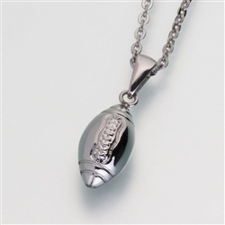 stainless steel football Cremation Jewelry