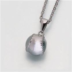 stainless steel baseball Cremation Jewelry