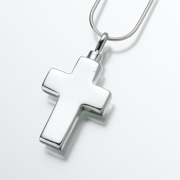 Large cross cremation jewelry by everlife memorials large cross pendant aloadofball Gallery