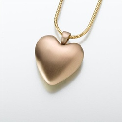Bronze/Pewter Heart Cremation Pendant