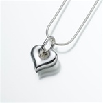 Puff Heart Cremation Pendant