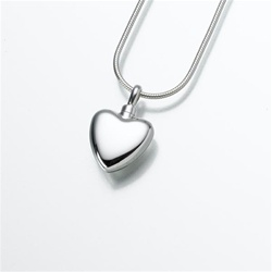 Small Heart Cremation Pendant