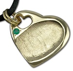 Large Heart Fingerprint Charm w/Heart Hole