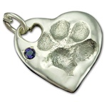 Large Heart Paw Print Impression w/Heart Hole
