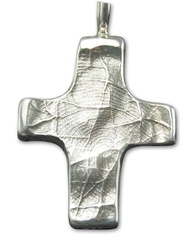 Large Cross Fingerprint Pendant