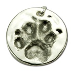 Small Cat Paw Print Pendant
