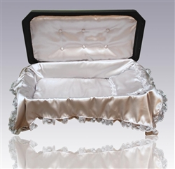 Deluxe Pet Casket in Black/Silver