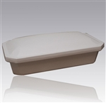 Economy Pet Casket in White
