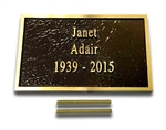 4 x 3 Bronze Plaque
