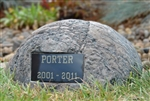 Pet Memorial Rock Urn Type C