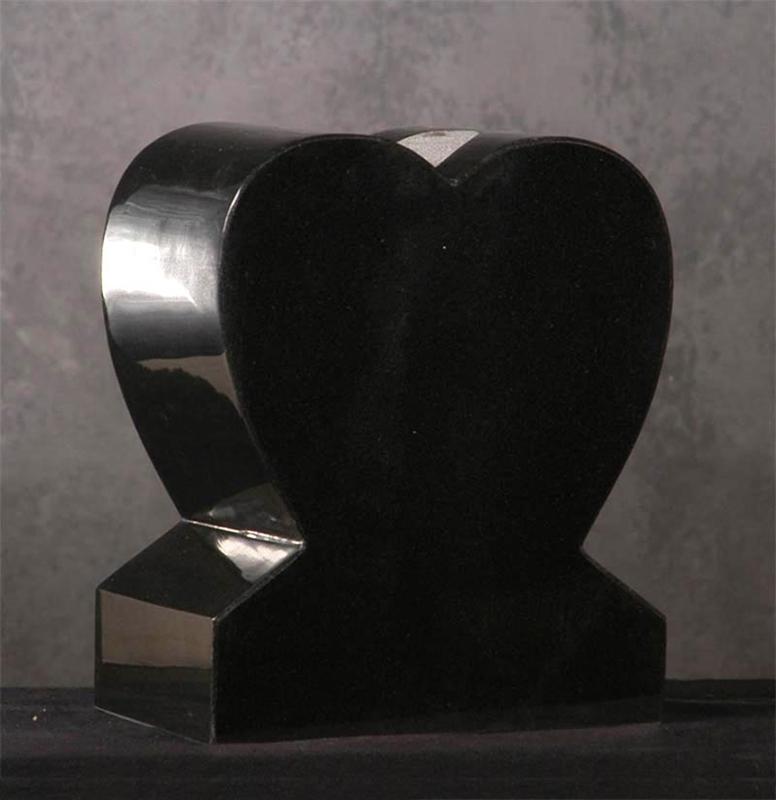 Heart Granite Vase Small