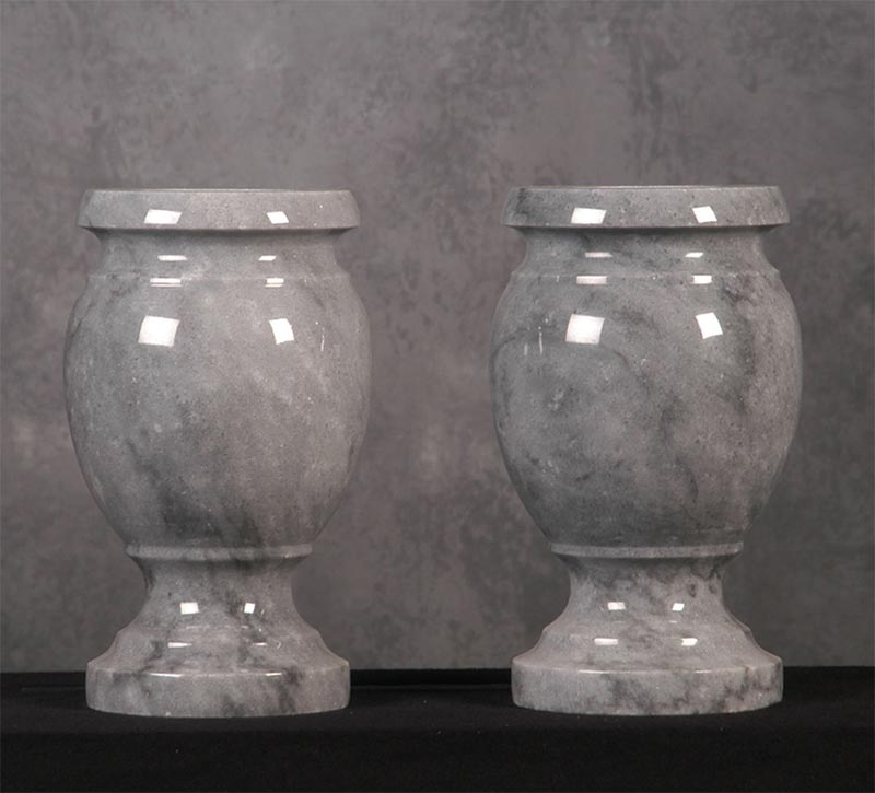 Gray Solid Marble Vase