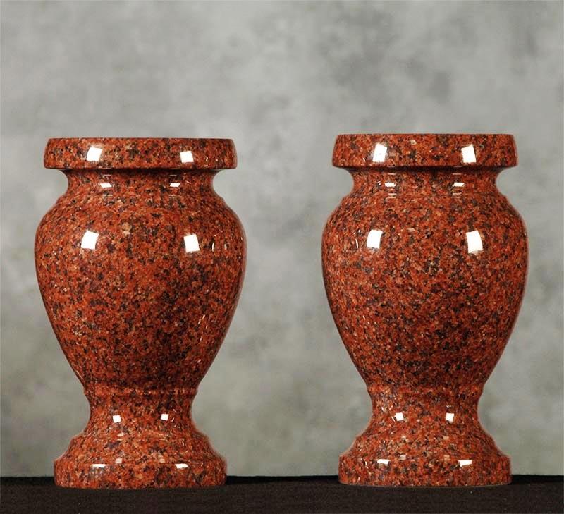 India Red Granite Monument Vase