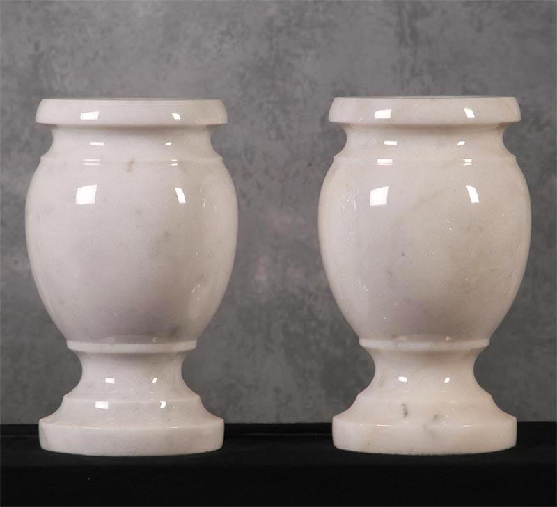 White Solid Marble Vase