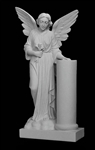 "36"" Angel With Column Statue"