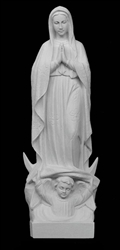 "14"" Our Lady of Fatima Marble Statue"