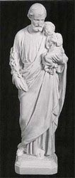 St. Joseph with Child Marble Statue