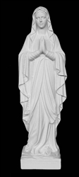 "40"" Our Lady of Lourdes Marble Statue"