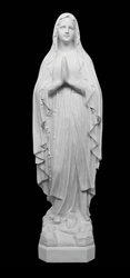 "12"" Our Lady of Fatima Marble Statue"