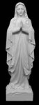"24"" Our Lady of Lourdes Marble Statue"