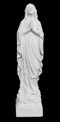 "28"" Our Lady of Lourdes Marble Statue"