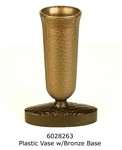 Replacement Endura Plastic Vase w/Oval Bronze base