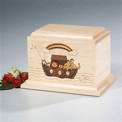 Noah's Ark Wood Pet Urn