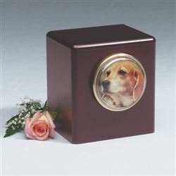 Rosewood Cube Wood Pet Urn