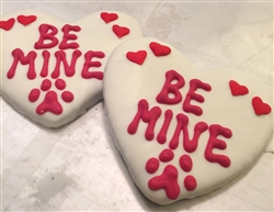 Be Mine Heart Dog Cookies Treats