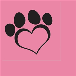 Dog Love Pink Lunch Napkins (16 per pack)