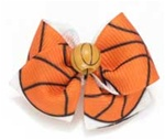 Basketball Hair Bow