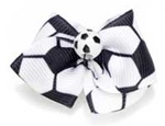 Soccer Back Hair Bow