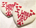 I Woof You Heart Dog Cookies Treats