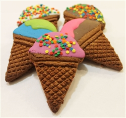 Ice Cream Cone Dog Cookies