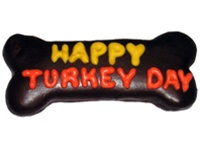 Happy Turkey Day Dog Bones Cookies Treats