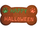 Happy Halloween Dog Bone Treat Cookie