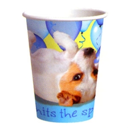 Turquoise Party Pups Hot / Cold Cups