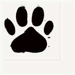 Paw Print Lunch Napkins White (16 per pack)