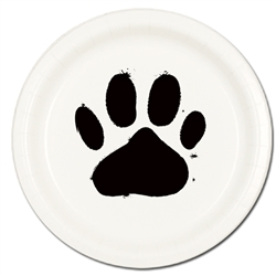 "Paw Print 9"" Lunch / Dinner Plates (8 per order)"