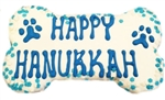 Happy Hanukkah Dog Bone Treat