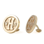 Round Monogram Cuff Links