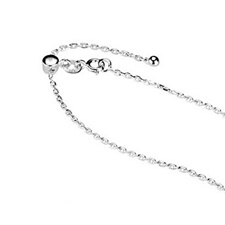 Steriling Silver Solid Snake Chain in Adjustable Length