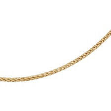 14K Gold 2mm Solid Figaro Necklace Chain