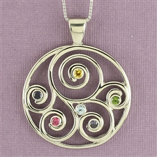 Family Birthstone Pendant