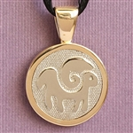 Horoscope Symbol Pendant with Image, Two Tone