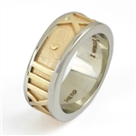 Gianni Date Ring, Two Tone with Satin Band