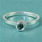 Mosaic Stacking Ring with Round 3mm Gem